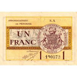 Péronne - Pirot 99-2b - 1 franc - Série S.A - 27/07/1920 - Etat : SUP