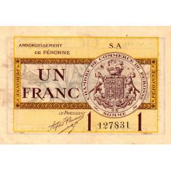Péronne - Pirot 99-2b - 1 franc - Série S.A - 27/07/1920 - Etat : TTB