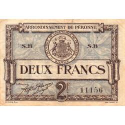 Péronne - Pirot 99-3 - 2 francs - Série S.B - 27/07/1920 - Etat : TB