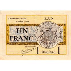 Péronne - Pirot 99-4b - 1 franc - Série S.A.D. - 18/10/1921 - Etat : TTB
