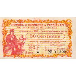 Perpignan - Pirot 100-5 - 50 centimes - Série G - 24/06/1915 - Etat : SUP
