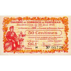 Perpignan - Pirot 100-5 - 50 centimes - Série H - 24/06/1915 - Etat : SPL