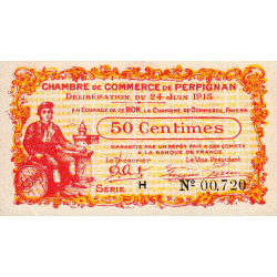 Perpignan - Pirot 100-5-H - 50 centimes - Etat : SPL