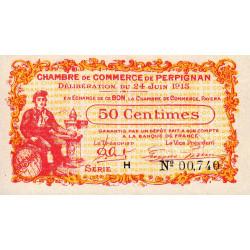 Perpignan - Pirot 100-5 - 50 centimes - Série H - 24/06/1915 - Etat : NEUF