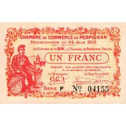 Perpignan - Pirot 100-7 - 1 franc - Série D - 24/06/1915 - Etat : SUP+