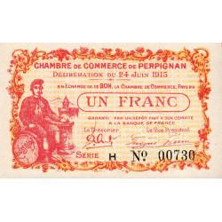 Perpignan - Pirot 100-7 - 1 franc - Série H - 24/06/1915 - Etat : NEUF