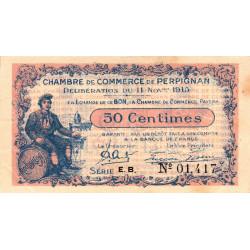 Perpignan - Pirot 100-9-EB - 50 centimes - Etat : TTB