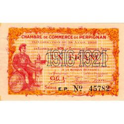 Perpignan - Pirot 100-17 - 1 franc - Série E.P. - 28/04/1916 - Etat : SUP