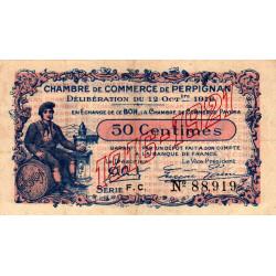 Perpignan - Pirot 100-19 - 50 centimes - Série F.C. - 12/10/1916 - Etat : TTB