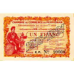 Perpignan - Pirot 100-20 - 1 franc - Série E.P. - 12/10/1916 - Etat : NEUF