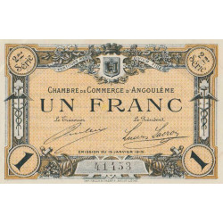 Angoulême - Pirot 9-11 - 1 franc - 1915 - Etat : SPL
