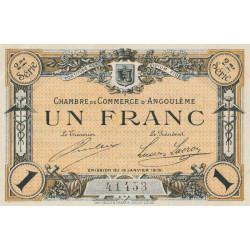 Angoulême - Pirot 9-11 - 1 franc - 2ème série - 15/01/1915 - Etat : SPL