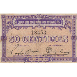 Cahors (Lot) - Pirot 35-1 - 50 centimes - 1915 - Etat : TB+