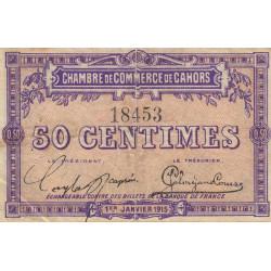 Cahors (Lot) - Pirot 35-1 - 50 centimes - Sans série - 01/01/1915 - Etat : TB+