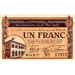 Perpignan - Pirot 100-23 - 1 franc - Série E.V. - 31/05/1917 - Etat : SPL