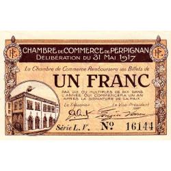 Perpignan - Pirot 100-23 - 1 franc - Série L.V. - 31/05/1917 - Etat : SUP+ à SPL