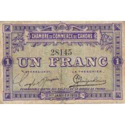 Cahors (Lot) - Pirot 35-2 - 1 franc - Sans série - 01/01/1915 - Etat : TB
