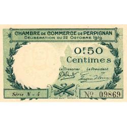 Perpignan - Pirot 100-27 - 50 centimes - Série N.4 - 22/10/1919 - Etat : SUP+ à SPL