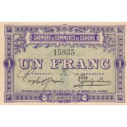 Cahors (Lot) - Pirot 35-4 - 1 franc - Sans série - 01/01/1915 - Etat : SPL+