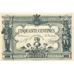 Poitiers - Vienne - Pirot 101-1 - 50 centimes - Série B - 10/1915 - Etat : SPL