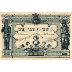 Poitiers - Vienne - Pirot 101-1 - 50 centimes - Série C - 10/1915 - Etat : SUP+