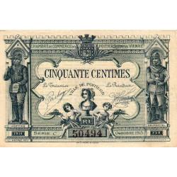 Poitiers - Vienne - Pirot 101-1 - 50 centimes - Série C - 10/1915 - Etat : TTB-
