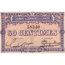 Cahors (Lot) - Pirot 35-5 - 50 centimes - Série C - 01/01/1915 - Etat : SPL+