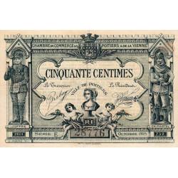 Poitiers - Vienne - Pirot 101-1 - 50 centimes - Série E - 10/1915 - Etat : TB+