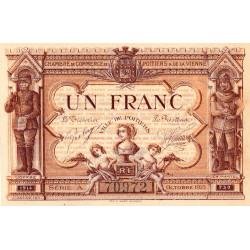 Poitiers - Vienne - Pirot 101-3 - 1 franc - Série A - 10/1915 - Etat : SPL+