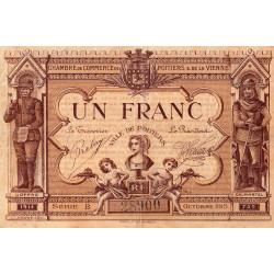 Poitiers - Vienne - Pirot 101-6-B - 1 franc - Etat : TB+