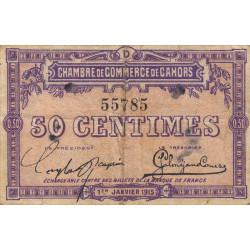 Cahors (Lot) - Pirot 35-5 - Série D - 50 centimes - 1915 - Etat : TB+