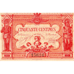 Poitiers - Vienne - Pirot 101-8 - 50 centimes - Série A2 - 07/1917 - Etat : SPL