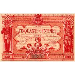 Poitiers - Vienne - Pirot 101-8 - 50 centimes - Série B2 - 07/1917 - Etat : TTB