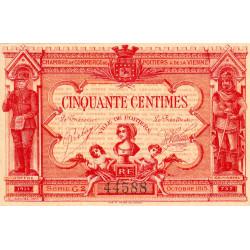 Poitiers - Vienne - Pirot 101-8 - 50 centimes - Série G2 - 07/1917 - Etat : SPL