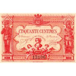 Poitiers - Vienne - Pirot 101-8 - 50 centimes - Série I2 - 07/1917 - Etat : SPL