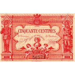 Poitiers - Vienne - Pirot 101-10 - 50 centimes - Série A2 - 07/1917 - Etat : SUP+