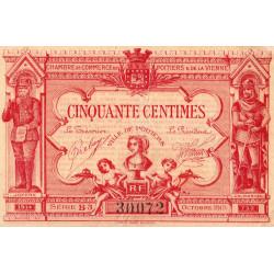 Poitiers - Vienne - Pirot 101-11 - 50 centimes - Série B3 - 06/1920 - Etat : TB+