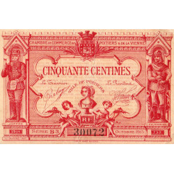 Poitiers - Vienne - Pirot 101-11-B3 - 50 centimes - Etat : TB+