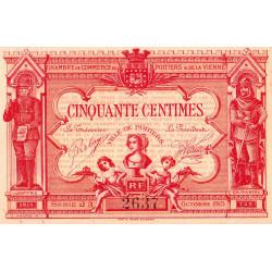 Poitiers - Vienne - Pirot 101-11 - 50 centimes - Série J3 - 06/1920 - Etat : SUP