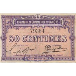 Cahors (Lot) - Pirot 35-5 - Série D - 50 centimes - 1915 - Etat : TTB+
