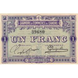 Cahors (Lot) - Pirot 35-7-C - 1 franc - 1915 - Etat : SPL+