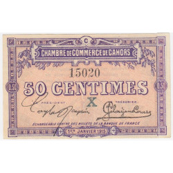 Cahors (Lot) - Pirot 35-09-C - 50 centimes - Etat : TB