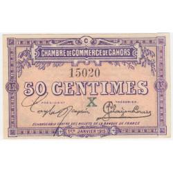 Cahors (Lot) - Pirot 35-9 - Série C - 50 centimes - 1915 - Etat : TB