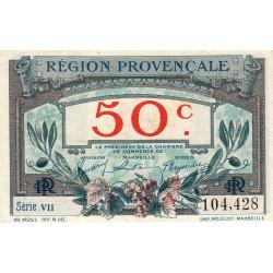 Région Provençale - Pirot 102-1-VII - 50 centimes - Etat : SUP+