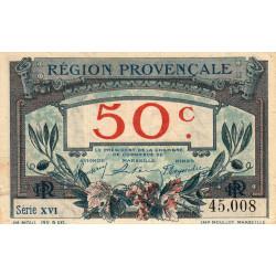 Région Provençale - Pirot 102-1-XVI - 50 centimes - Etat : TTB