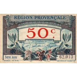 Région Provençale - Pirot 102-1-XIX - 50 centimes - Etat : TTB-