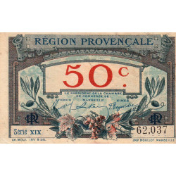 Région Provençale - Pirot 102-1-XIX - 50 centimes - Etat : TTB