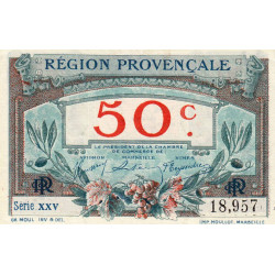 Région Provençale - Pirot 102-1 - 50 centimes - Série XXV - Sans date - Etat : NEUF
