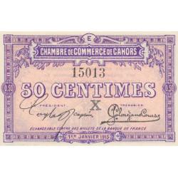 Cahors (Lot) - Pirot 35-9-E - 50 centimes - 1915 - Etat : NEUF