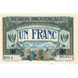 Région Provençale - Pirot 102-4 - 1 franc - Série A - Sans date - Petit numéro - Etat : NEUF